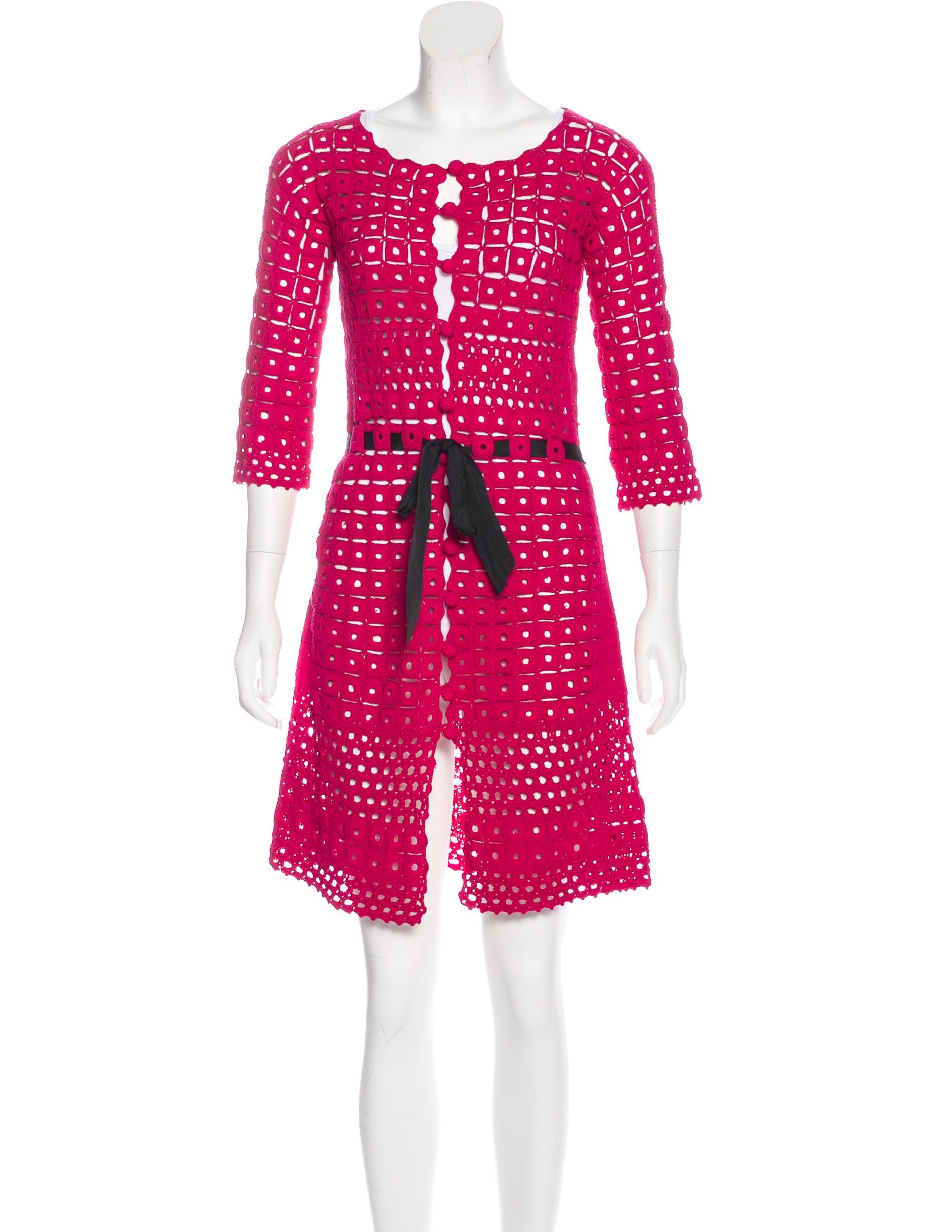 Robert Rodriguez Crochet Knee Length Dress Clothing Wrr29722 The Realreal