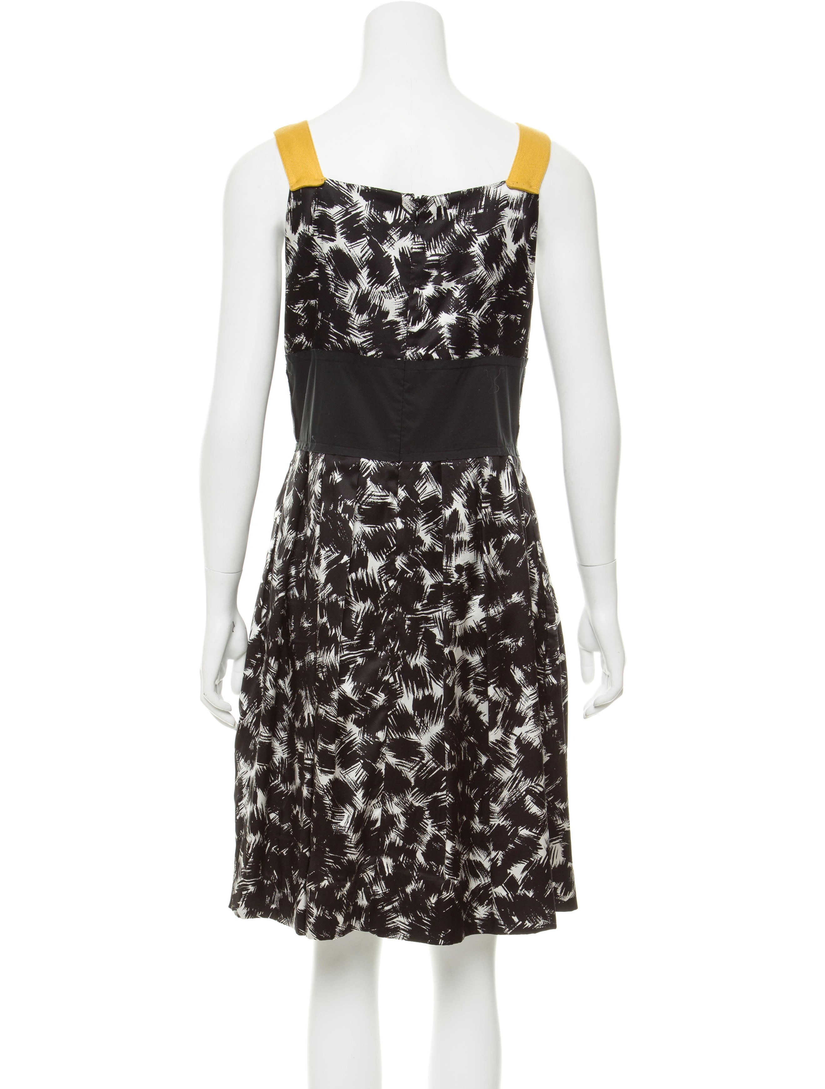 Robert Rodriguez Silk Brush Stroke Print Dress Clothing Wrr29742 The Realreal