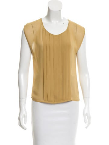 Robert Rodriguez Pleat-Accented Sleeveless Top None