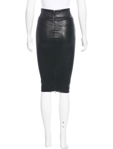 robert rodriguez leather pencil skirt clothing