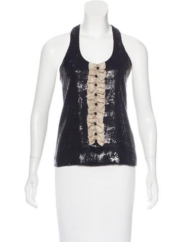 Robert Rodriguez Silk Embellished Top None