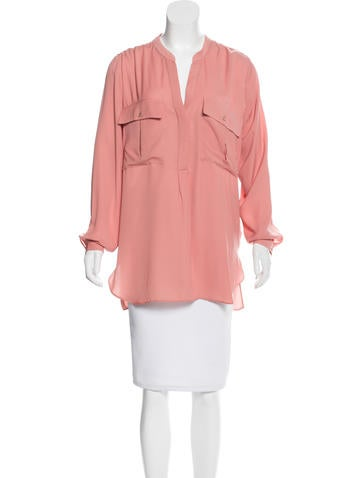 Robert Rodriguez Long Sleeve Button-Up Blouse None