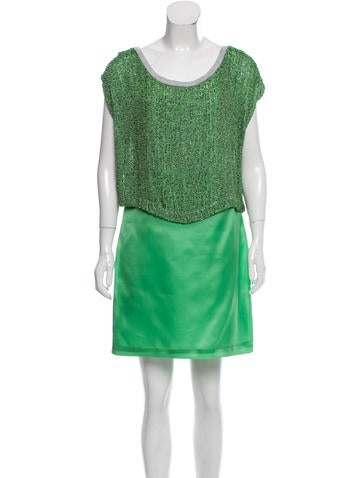 Robert Rodriguez Embellished Silk Dress None