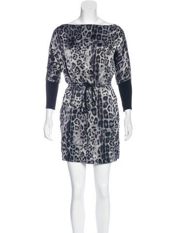 Robert Rodriguez Silk Leopard Printed Dress None