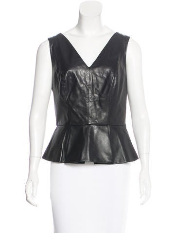 Robert Rodriguez Leather Sleeveless Top None