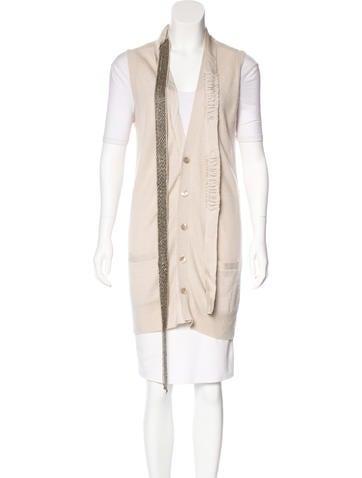 Robert Rodriguez Cashmere Embellished Vest None