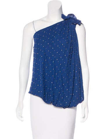 Robert Rodriguez Embellished One-Shoulder Top w/ Tags None
