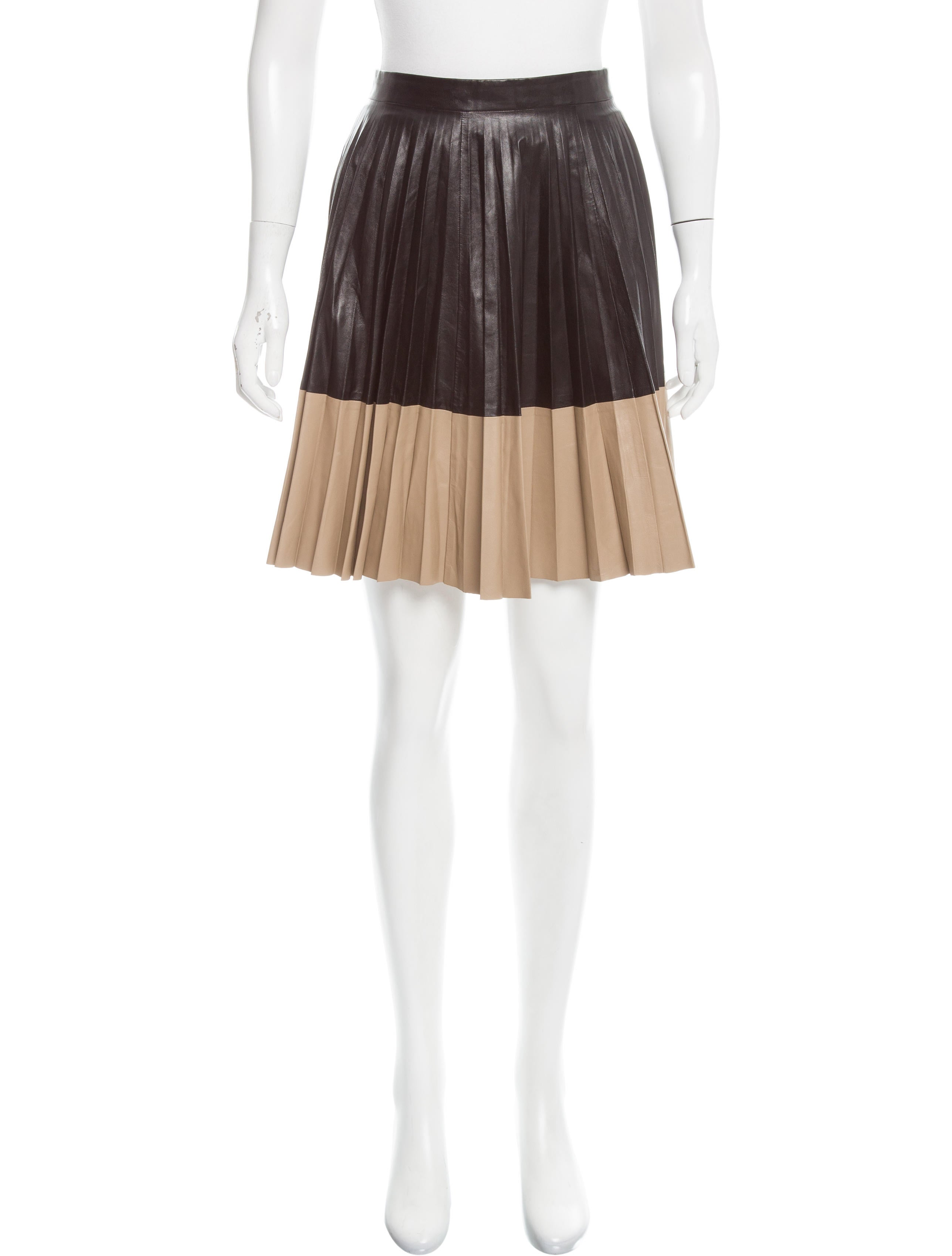 robert rodriguez pleated leather skirt clothing