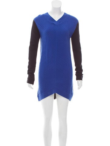 Robert Rodriguez Wool & Cashmere Sweater Dress None