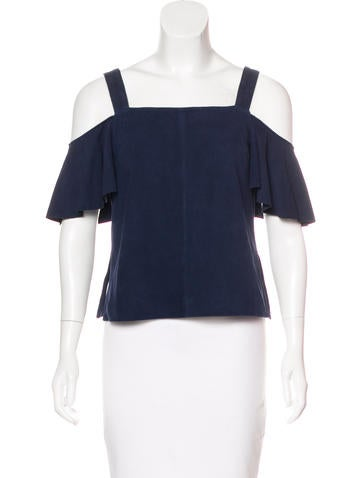 Robert Rodriguez Suede Cold-Shoulder Top w/ Tags None