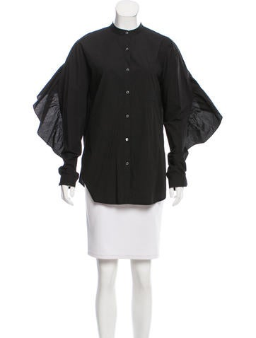 Robert Rodriguez Ruffle-Trimmed Button-Up Top w/ Tags None