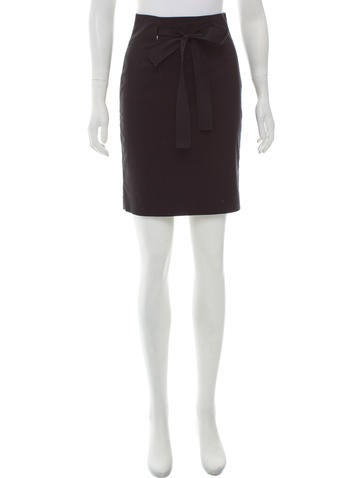 Robert Rodriguez Bow-Accented Knit Skirt None