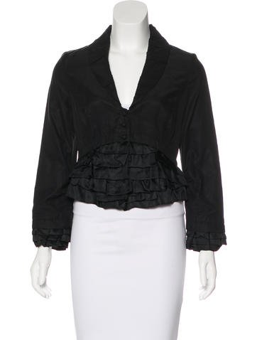Robert Rodriguez Ruffle-Trimmed Cropped Jacket None