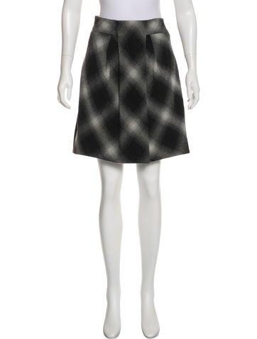 Robert Rodriguez Wool Knee-Length Skirt w/ Tags None
