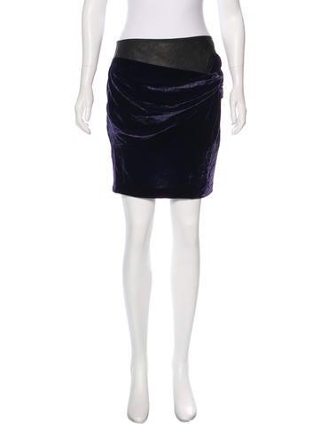 Robert Rodriguez Velvet Mini Skirt None