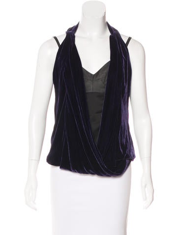 Robert Rodriguez Velvet Sleeveless Top None