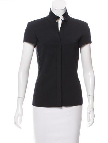 Narciso Rodriguez Button-Up Short Sleeve Top None