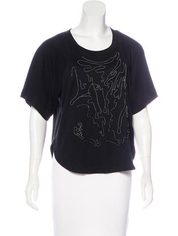 Robert Rodriguez Embellished Knit Top None