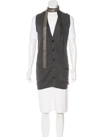 Robert Rodriguez Cashmere Knit Vest None