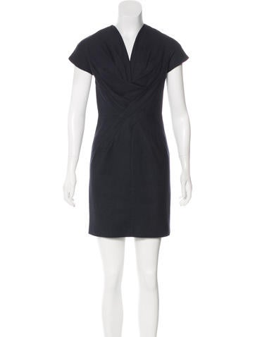 Robert Rodriguez Wool Mini Dress None
