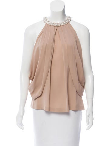 Robert Rodriguez Embellished Silk Top None