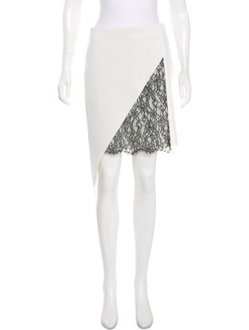 Robert Rodriguez Lace-Trimmed Asymmetrical Skirt w/ Tags None