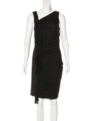 Robert Rodriguez Tulle-Trimmed Sleeveless Dress None
