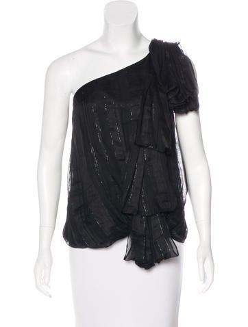 Robert Rodriguez Knit One-Shoulder Top None
