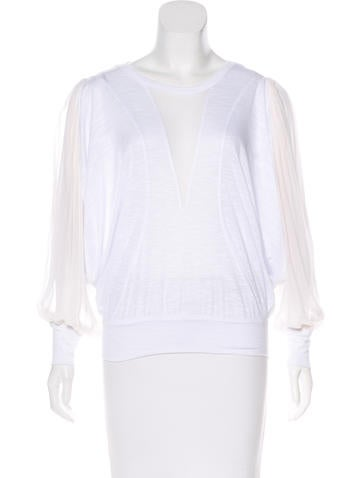 Robert Rodriguez Silk-Accented Knit Top None