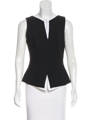 Robert Rodriguez Structured Sleeveless Top None