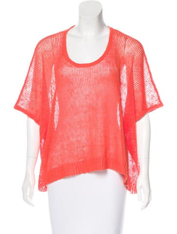 Robert Rodriguez Linen Oversize Knit Top None