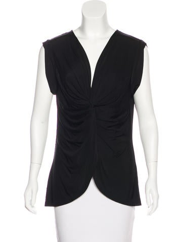 Robert Rodriguez Sleeveless Ruched Top None