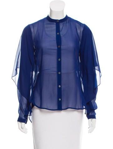 Robert Rodriguez Silk Button-Up Top None