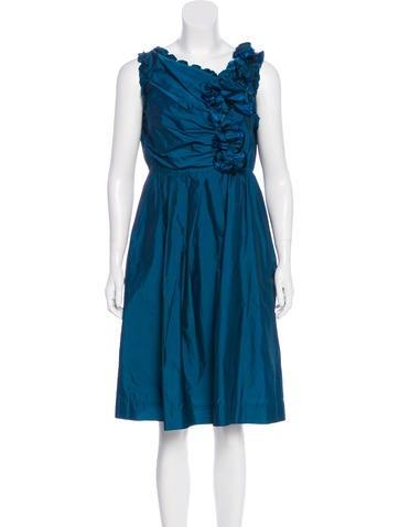 Robert Rodriguez Ruffled Sleeveless Dress None
