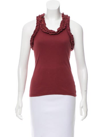 Robert Rodriguez Ruffle-Trimmed Sleeveless Top None