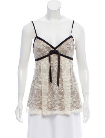 Robert Rodriguez Sleeveless Lace Top None