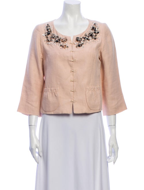 Robert Rodriguez Linen Evening Jacket - image 1