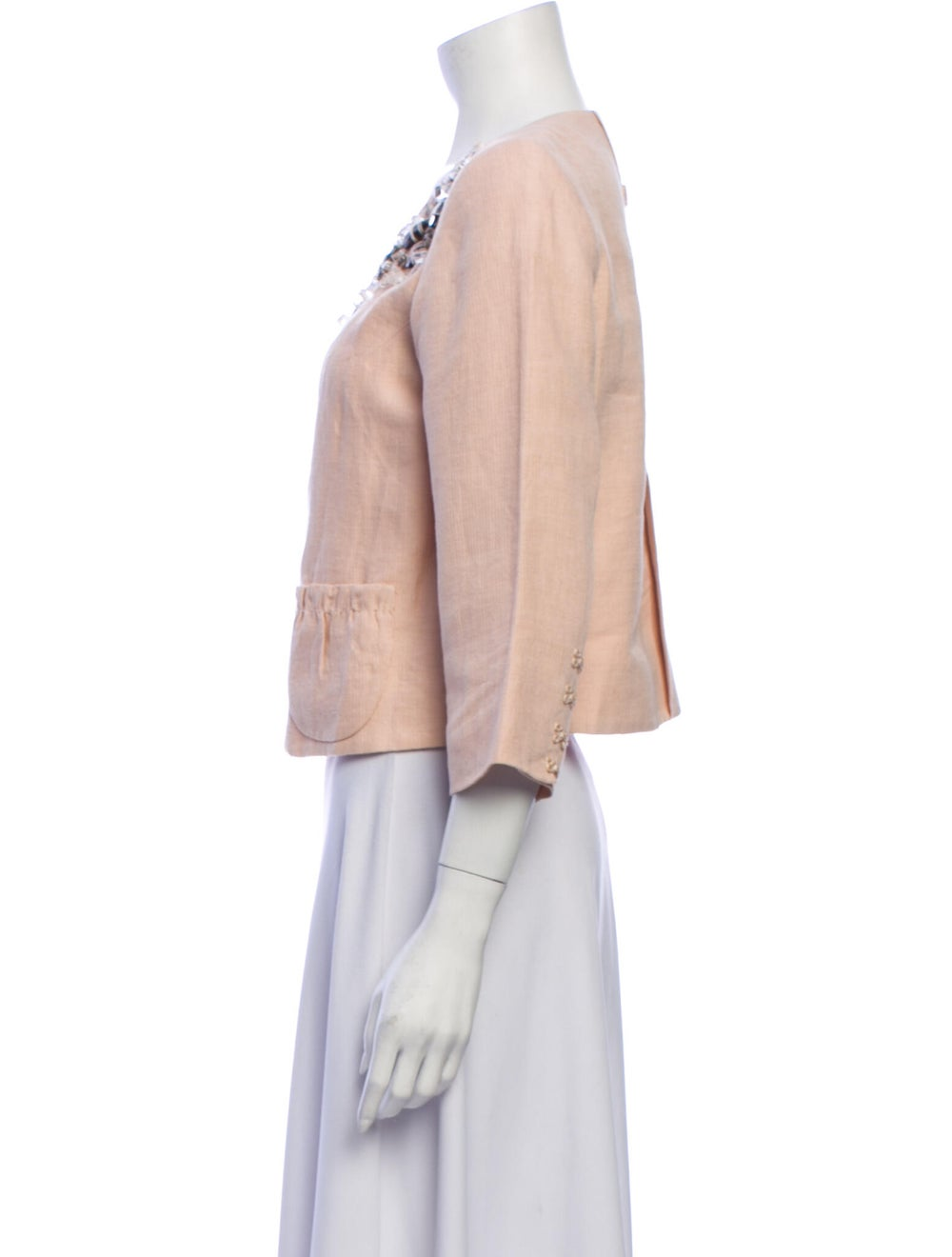 Robert Rodriguez Linen Evening Jacket - image 2
