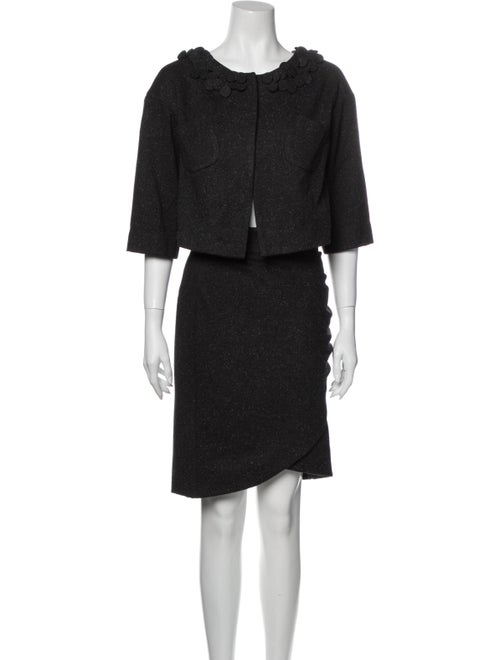 Robert Rodriguez Skirt Suit Grey