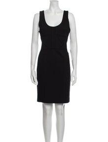 Robert Rodriguez Scoop Neck Knee-Length Dress