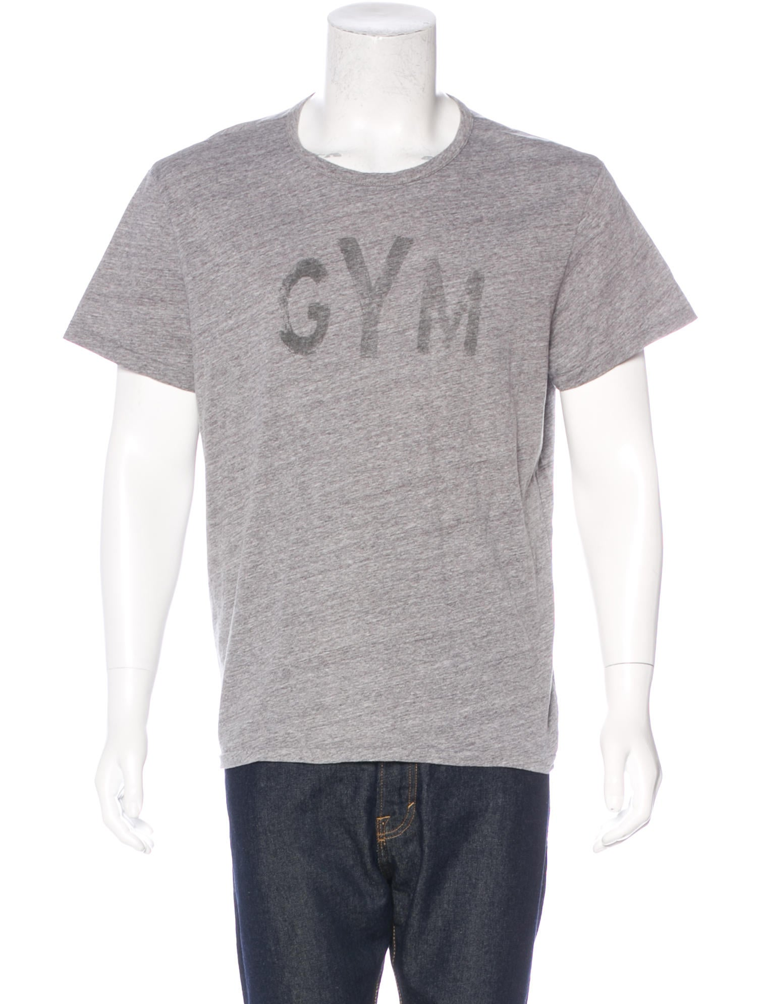 Rrl co gym printed t shirt clothing wrrll20447 for Gym printed t shirts