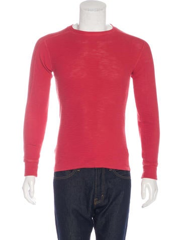 RRL & Co. Woven Thermal T-Shirt None