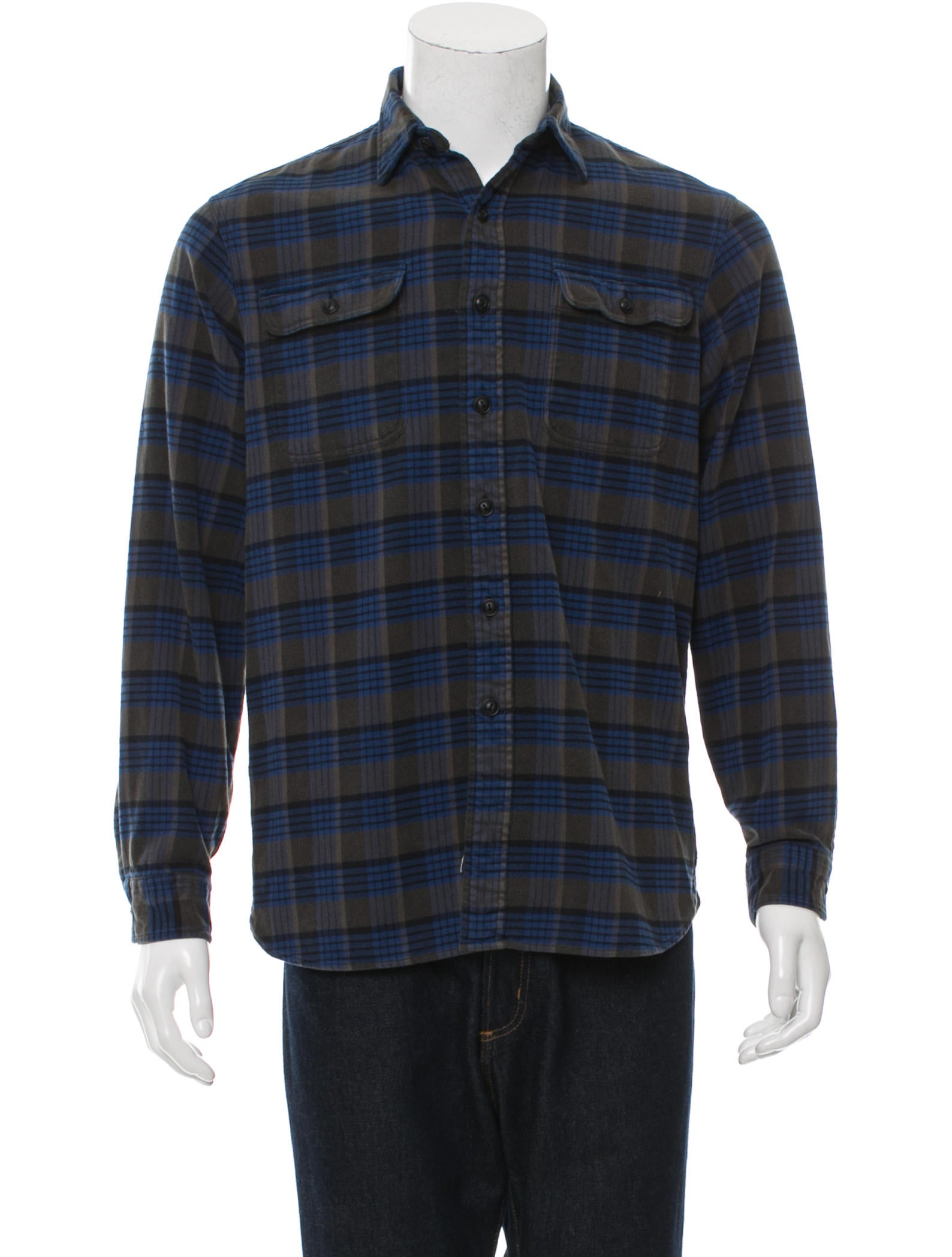 rrl co flannel button up shirt clothing wrrll20482