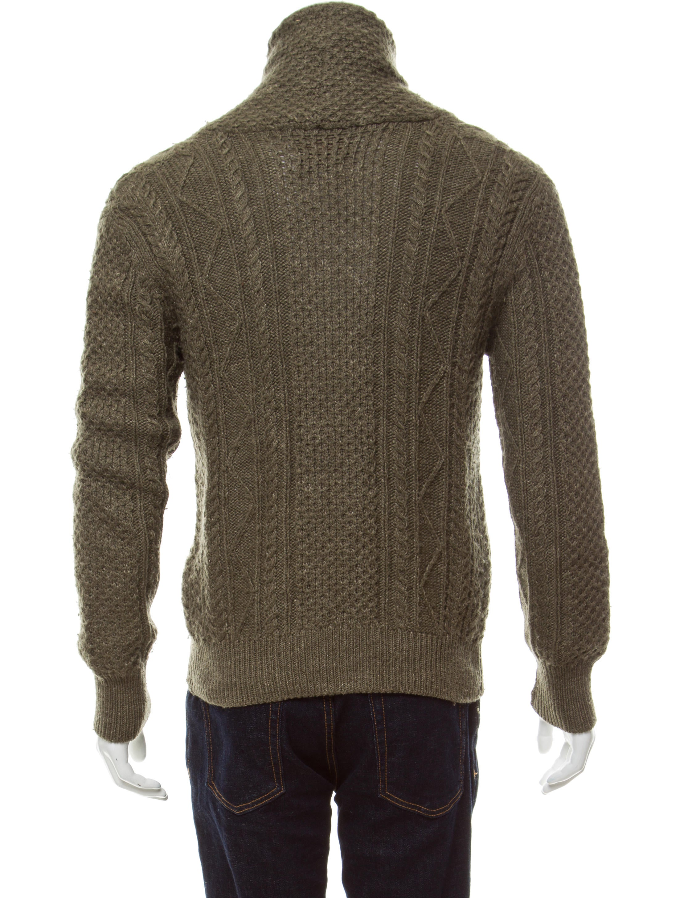 Knitting Wear Company : Rrl co wool cable knit cardigan clothing wrrll