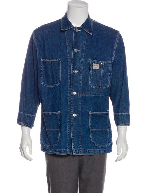 RRL & Co. Denim Point Collar Jacket blue