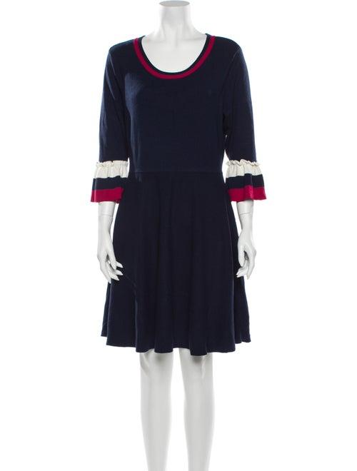 Draper James Colorblock Pattern Mini Dress Blue
