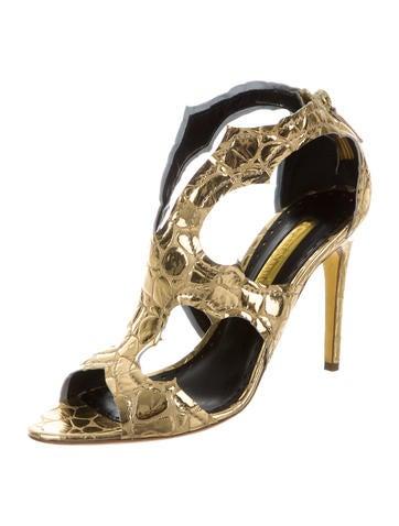 Metallic Caged Sandals