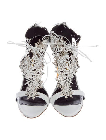 Rupert Sanderson Urania Leather Sandals w/ Tags cheap online shop sale low shipping fee many kinds of cheap price quality for sale free shipping KCeZC