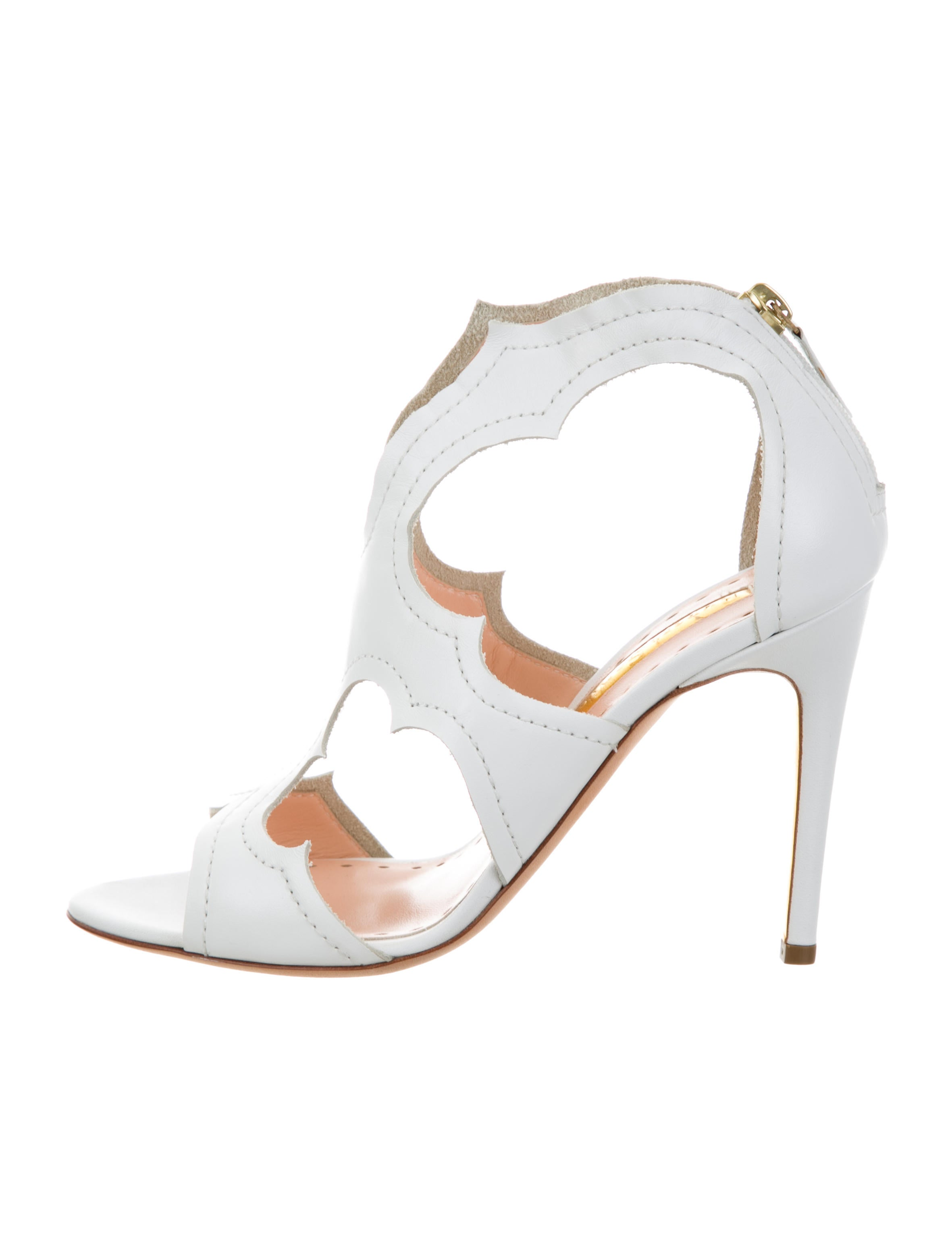 Rupert Sanderson Leather Cutout Sandals w/ Tags outlet looking for clearance amazing price outlet locations cheap price buy cheap 100% authentic big discount for sale lw8da