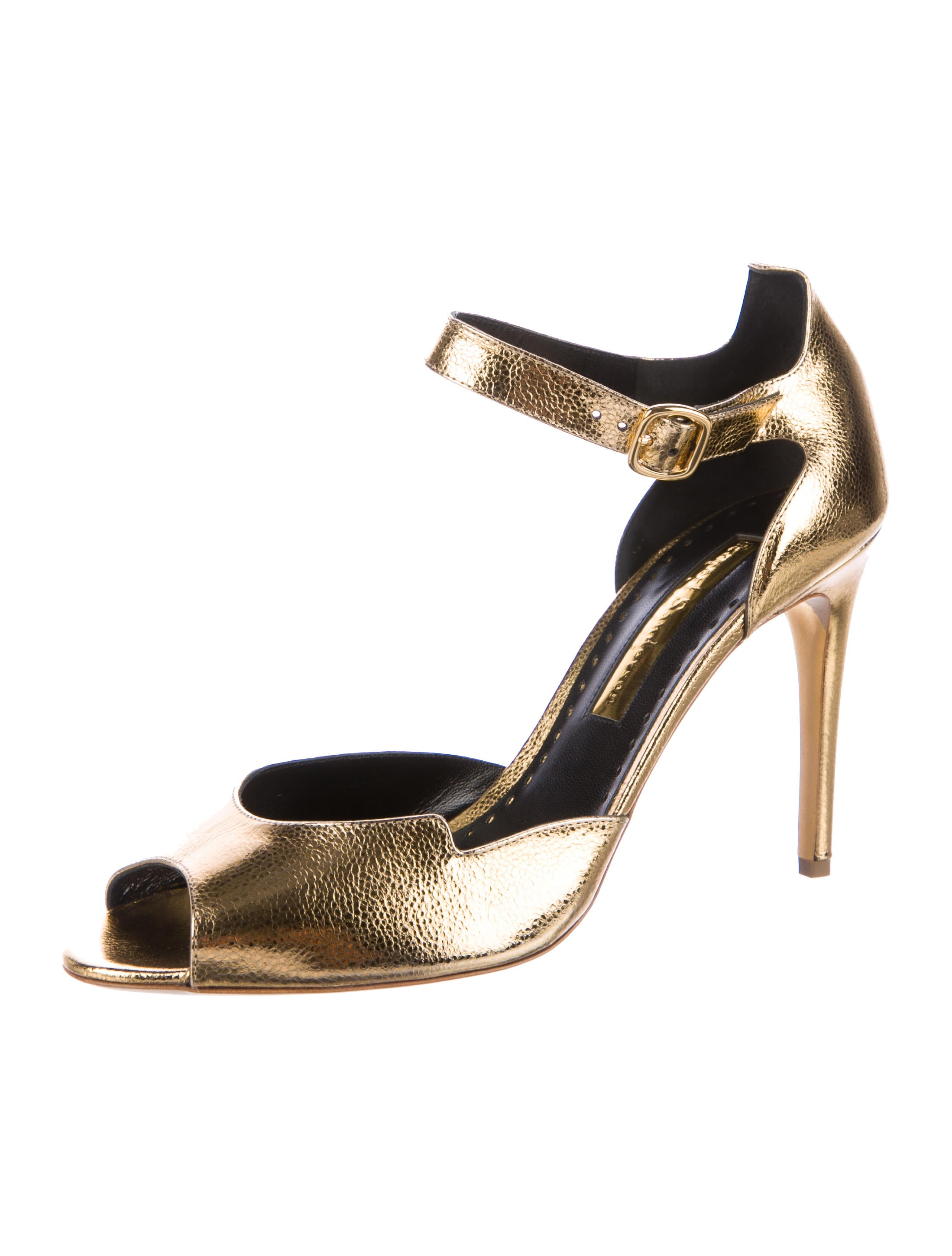 Rupert Sanderson Telita Metallic Pumps w/ Tags clearance shopping online sale perfect buy cheap find great fashion Style cheap price outlet best seller Wl6JbcwwH
